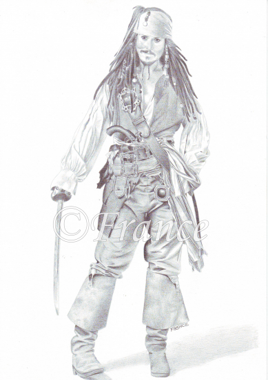 Jack sparrow nov 2007 - Coloriage pirate des caraibes ...